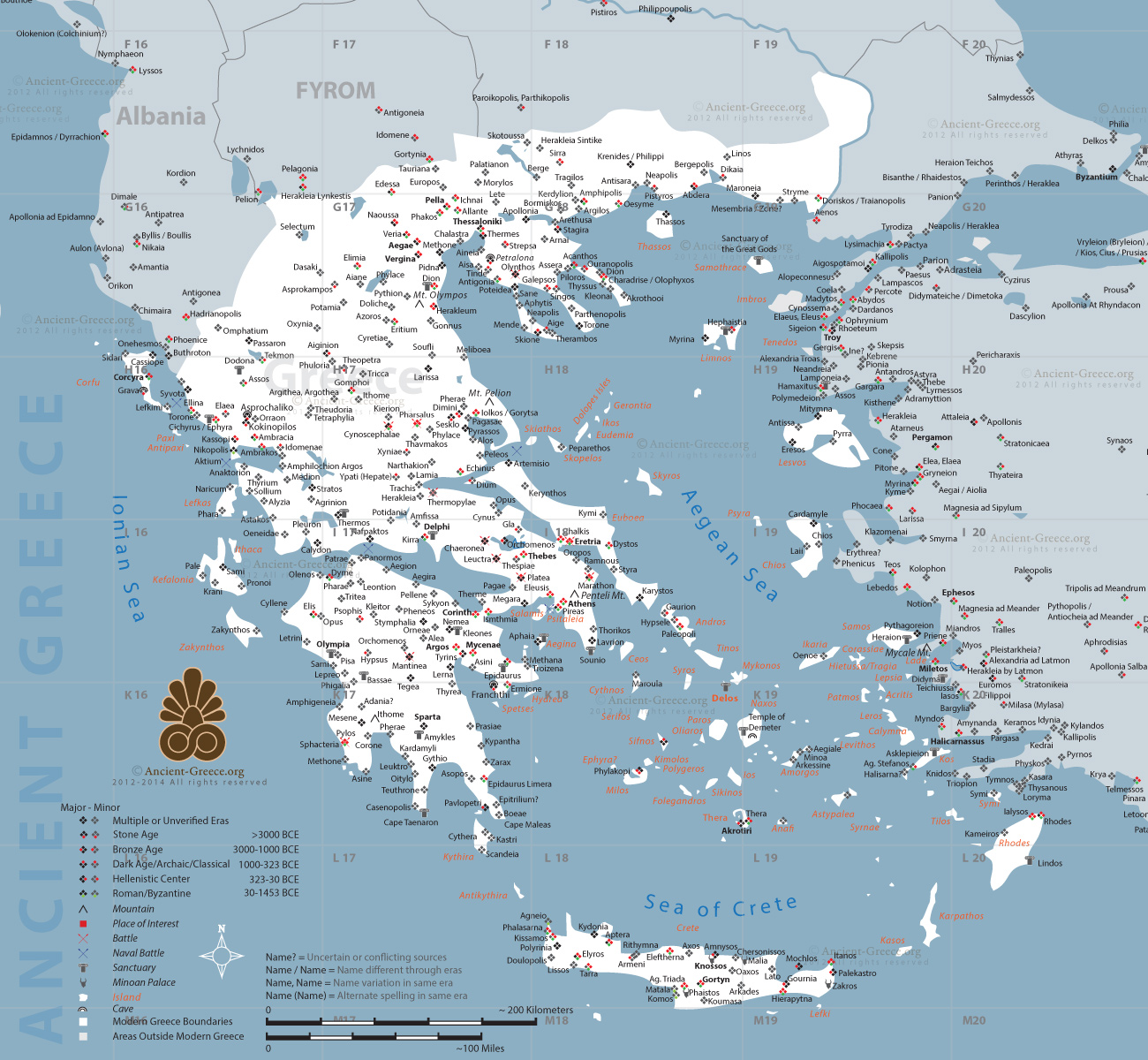 Greek Maps by History Link 101