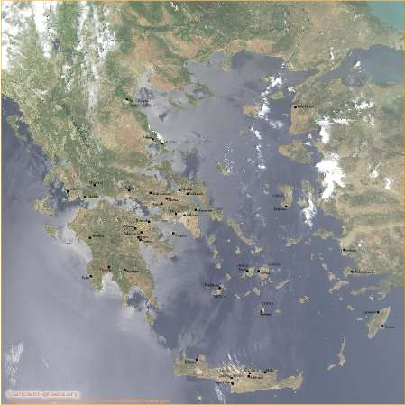 Map of Mycenaean Greece